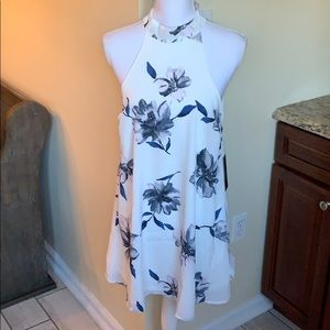 Lulu's White and Blue dress - NEW with tags